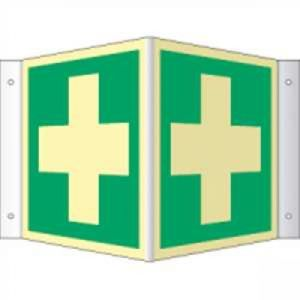 Nasen- /Winkelschild Erste Hilfe (ISO 7010)