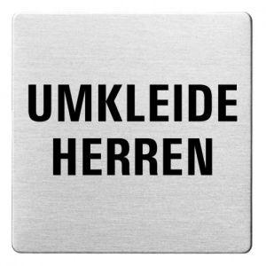 Textschild - Umkleide Herren (ecken abgerundet)
