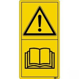 Vor Inbetriebnahme die Betriebsanleitung und Sicherheitshinweise lesen und beachten.