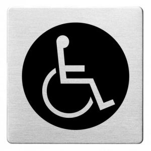 Piktogramm - Rollstuhlfahrer (ecken abgerundet/schwarz)