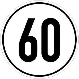 Geschwindigkeitsschilder 60 km/h