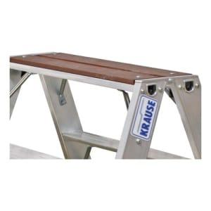 Stufen-Doppelleiter STABILO mit Holzauflage