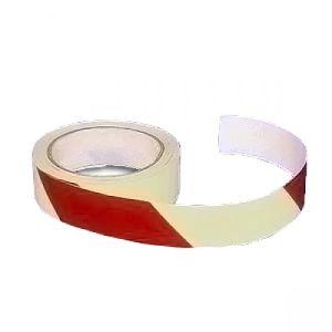 Warnmarkierungsband rot/weiß, langnachleuchtend - Rolle