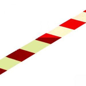 Warnmarkierungsstreifen rot/weiß, langnachleuchtend