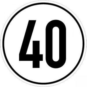 Geschwindigkeitsschilder 40 km/h