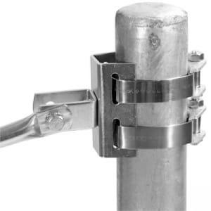 Bandschellenadapter für Spiegel mit justierbarem Teleskoparm