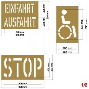 Schablonensatz 1 (6 teiliges Set)