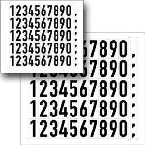 Folienziffern und -buchstaben zur individuellen Beschriftung der Hydrantenschilder (schwarz)