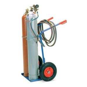 Stahlflaschenkarre für 2x 40-50 l/kg Flaschen - Tragkraft 150 kg