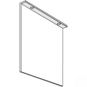 Fahnenschilder neutral für Deckenmontage