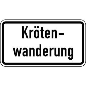 Zusatzschild Krötenwanderung Zusatzzeichen VZ 2535
