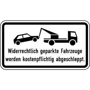 Widerrechtlich geparkte Fahrzeuge werden kostenpflichtig abgeschleppt