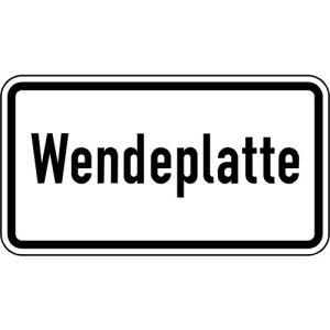 Zusatzschild Wendeplatte Zusatzzeichen VZ 2421