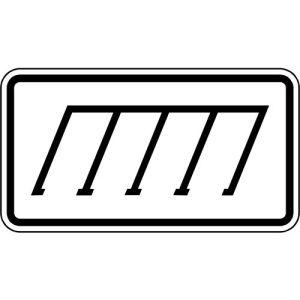 Zusatzschild Parkordnung schräg Zusatzzeichen VZ 2402