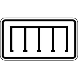 Zusatzschild Parkordnung gerade Zusatzzeichen VZ 2401