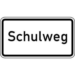 Zusatzzeichen Schulweg Zusatzschild mit VZ 2303