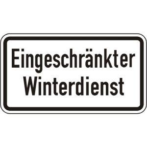 Eingeschränkter Winterdienst Zusatzzeichen VZ 2008
