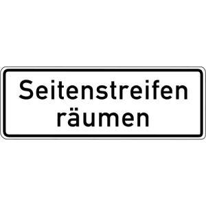Zusatzschild Seitenstreifen räumen Zusatzzeichen 1013-51