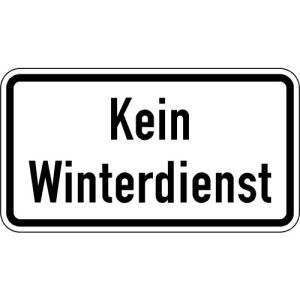 Zusatzschild Kein Winterdienst Zusatzzeichen VZ 2001