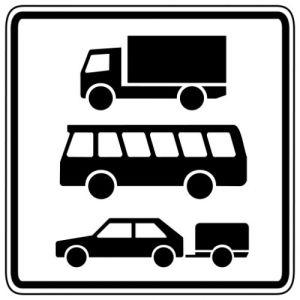 Zusatzzeichen 1049-13 Nur Kraftfahrzeuge über 3,5 t...