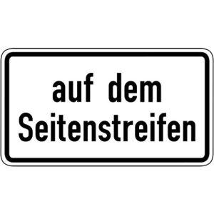 Zusatzschild Auf dem Seitenstreifen VZ 1053-34