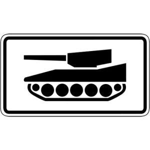 Nur militärische Kettenfahrzeuge Zusatzzeichen 1049-12