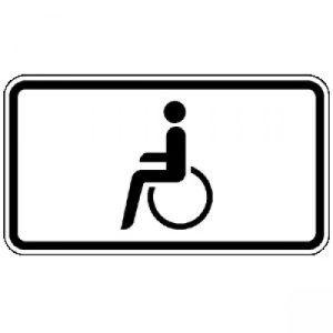 Zusatzzeichen 1044-10 Nur Schwerbehinderte mit...
