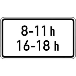 Zeitliche Beschränkung Zusatzschild VZ 1040-31