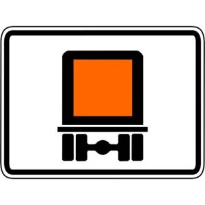 Streckenverbot gefährliche Güter Zusatzzeichen 1052-30