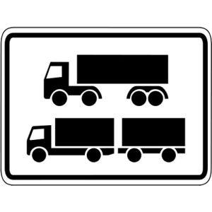 Nur Sattelkraftfahrzeuge & LKW mit Anhänger VZ 1048-15