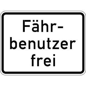Zusatzzeichen Fährbenutzer frei Zusatzschild VZ 1028-34
