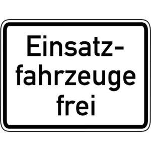 Einsatzfahrzeuge frei Zusatzschild VZ 1026-33