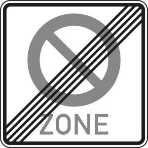 Verkehrszeichen 290.2 Schild  Halteverbot für eine Zone