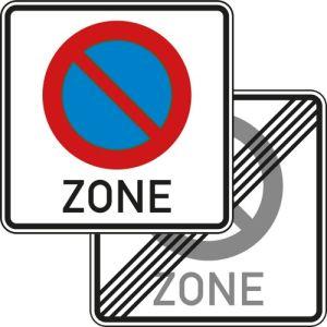 Eingeschränktes Haltverbot für eine Zone Verkehrsschild