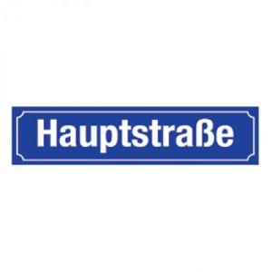 Straßennamenschild für Alu-Hohlkastenprofil