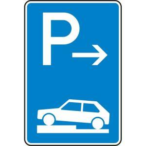 VZ 315-71 Parken auf Gehwegen Schild Anfang