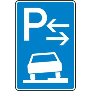 Verkehrszeichen 315-58 Parken auf Gehwegen Schild (Mitte)
