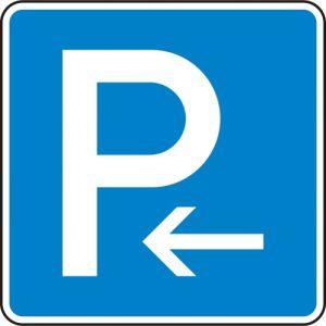 VZ 314-10 - Parken Anfang Parkplatzschild hier