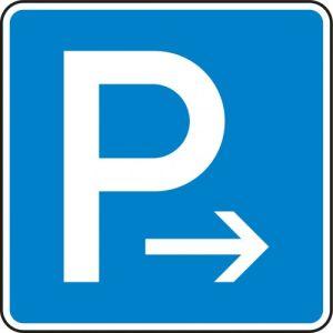 VZ 314-20 - Parken Ende Parkplatzschild hier