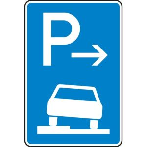 Verkehrszeichen 315-52  Parken auf Gehwegen Schild (Ende)