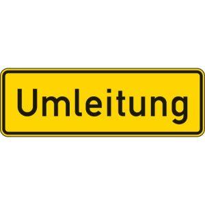 VZ 457.1 - Umleitungsankündigung Schild