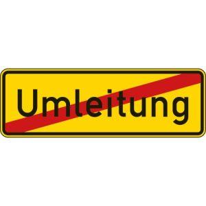 Ende der Umleitung Verkehrsschild mit VZ 457.2