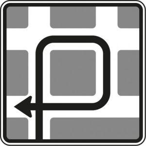 VZ 590-11 Verkehrsschild Blockumfahrung rechts-rechts-rechts