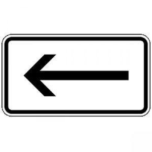 Zusatzzeichen Linksweisend Zusatzschild mit VZ 1000-10