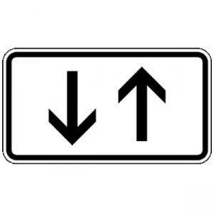 VZ 1000-31 Verkehr in beide Richtungen, 2 senkrechte Pfeile