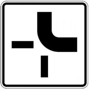 Zusatzzeichen 1002-21 Verlauf der Vorfahrtstraße