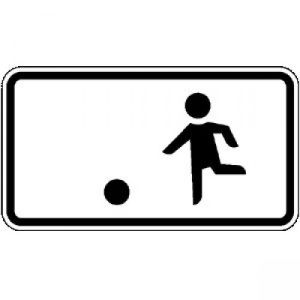 Zusatzzeichen Kinderspielen... Erlaubt VZ 1010-10