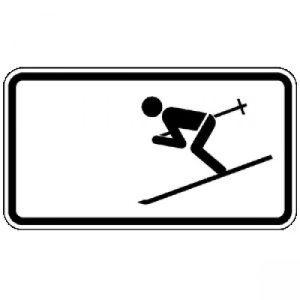 Zusatzzeichen Wintersport erlaubt - VZ 1010-11