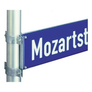 Flachstahlrahmen für Straßennamenschild