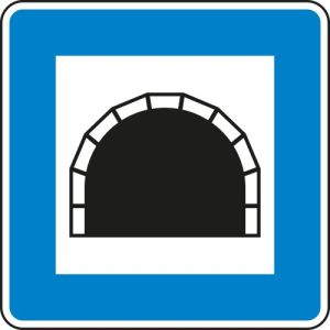 Verkehrsschild Tunnel gemäß StVO VZ 327